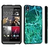 DuroCase ® HTC Desire 816 Hard Case Black - (Jade Marble)
