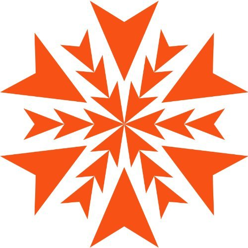 Size 20 cm heigth by 20 cm max Colour Orange Snowflake sticker, snowflakes sticker, star sticker, stars sticker, window cling self adhesive ThatVinylPlace _0044