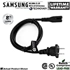Samsung LED/LCD TV Power Cord (Specific Models Only) (Long Run - 8' Long, Bulk Packed)