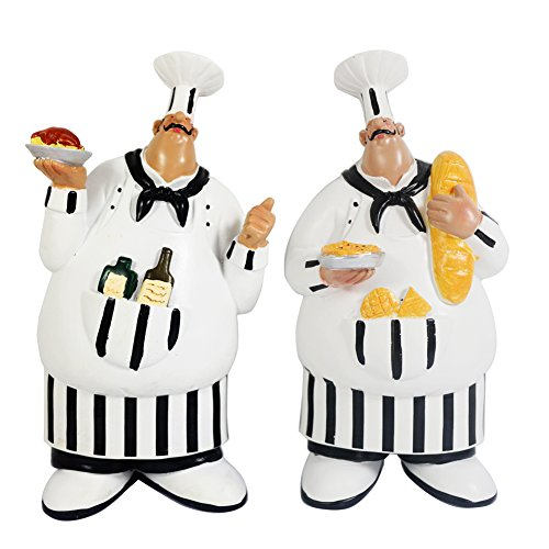 Set of 2 Adorable Cooking Fat Chef Wall Art Hanging Sign Decorative Kitchen Wall Sign Plaque (Fat Chef Kitchen Wall Art compare prices)