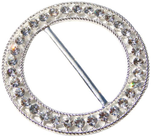 The Buckle Boutique Fancy Round Rhinestone Chair Sash Pin for Arts and Crafts, 2.6-Inch