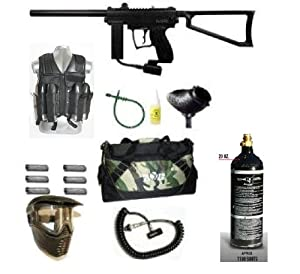 Spyder Paintball MR1 Gun GXG Tac Vest Sniper Set (Black)