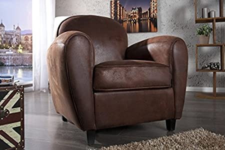 Casa Padrino Club Armchair Dark brown - TV chair Lounge Living room furniture
