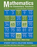 img - for Mathematics for Elementary Teachers: A Contemporary Approach 10e Student Hints and Solutions Manual book / textbook / text book