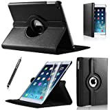 coverme571@360 ROTATING FLIP LEATHER CASE COVER FOR THE NEW IPAD MINI ipad mini retina (black) (ipad mini, BLACK)