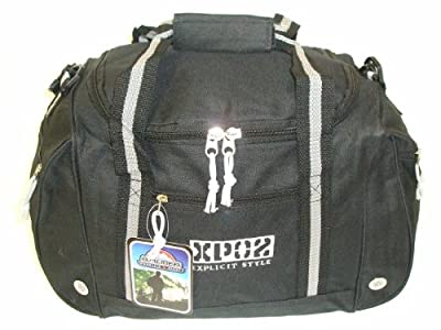 """17"""" Small Black And Grey Sports Gym Holdall Weekend Overnight Travel Onboard Cabin Flight Bag by Airliner Mountain Sport XP02"""