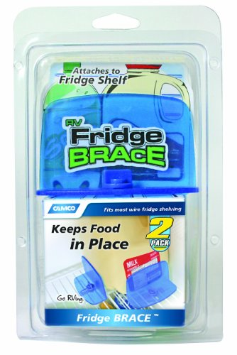 Camco 44033 Fridge Brace, 2 pack made our list of RVing Tips For Beginners