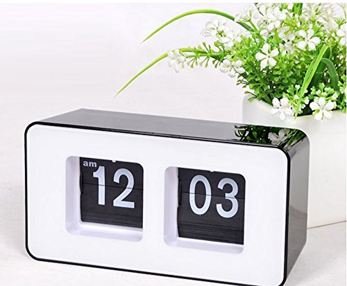 Musse Modern Retro Auto Flip Clock Desk Table File Down Page Clock