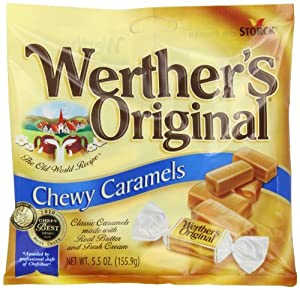 Werther's Original Chewy Caramels, 5.5-Ounce Bags (Pack of 12)