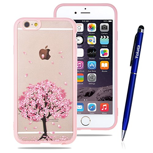 fur-apple-iphone-6-6s-47-yokata-pc-hart-case-mit-weich-pink-silikon-bumper-hulle-rosa-baum-motif-sch