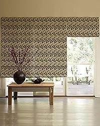 PRESTO BAZAAR 1 Piece Polyester Floral Blind - Gray