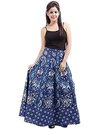 Jaipur Skirt Women's Cotton Wrap Skirt - B01F5OIM64
