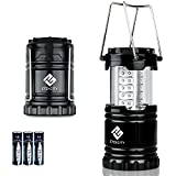 Etekcity Ultra Bright Portable LED Camping Lantern with 3 AA Batteries (Black, Collapsible)