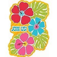 Bright Hibiscus Luau Invitations Part…