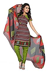 Swagpod Multi Cotton Printed Unstitched Dress Material SWAG00243