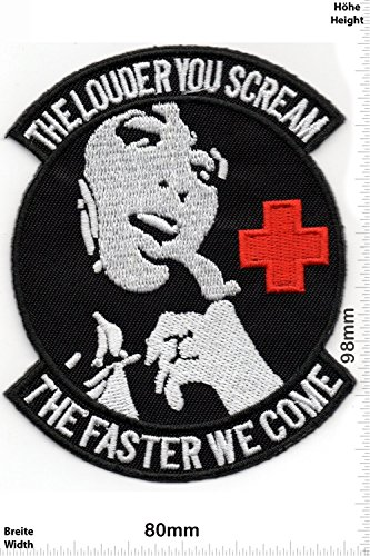 patches-the-louder-you-scream-the-faster-we-come-fun-patches-adult-vest-iron-on-patch-applique-embro