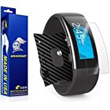 ArmorSuit MilitaryShield - Microsoft Band 2 Screen Protector + Black Carbon Fiber Full Body Skin Protector / Front Anti-Bubble and Extream Clarity HD Shield with Lifetime Replacements