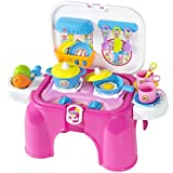 Best Choice Products Pretend Kitchen Cooking Playset With Lights & Sounds Kids Toy Great Gift