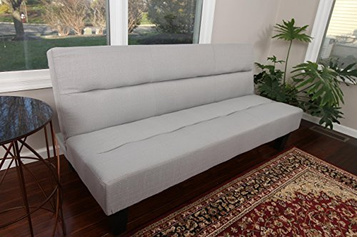 home-life-textured-linen-sofa-futon-with-adjustable-back-klik-klak-bed-sleeper-convertible-high-qual