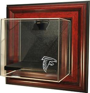 NFL Atlanta Falcons Mini-Helmet Case-Up Display Case, Mahogany by Caseworks
