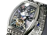 ディズニー ミッキー 腕時計 77周年ファンタジーアワー 黒 disney/1