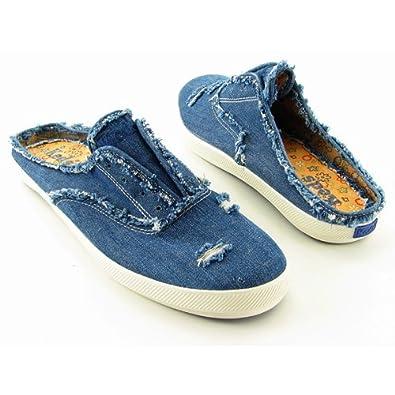 Amazon.com Keds CH Destroy Womens Mule Tennis Shoes Size 10 Denim Shoes