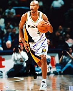 Jalen Rose Autographed Hand Signed 16x20 Photo Pacers PSA DNA #S76746 by Hall+of+Fame+Memorabilia