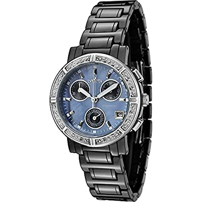 Invicta Watches Womens Ceramics Diamond Chronograph Ceramic Band Watch