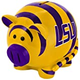 LSU Tigers Large Thematic Piggy Bank