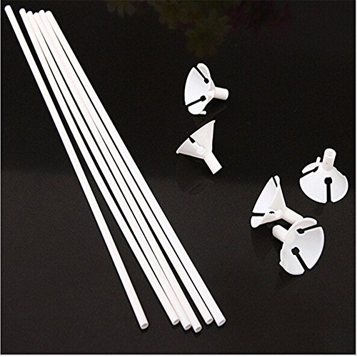 100sets/lot 32cm latex Balloon Stick white PVC rods for Supplies Balloons Wedding balloon decoration accessories