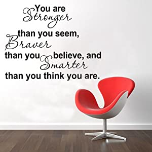 You Are Stronger Than You Believe Inspiration Quote Wallpaper 8061@Kuntaashop by BgUK