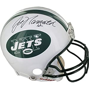 Joe Namath New York Jets Replica Throwback Helmet by Steiner Sports