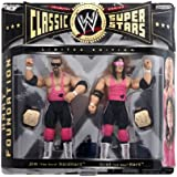 """WWE CLASSIC SUPERSTARS JIM """"THE ANVIL"""" NEIDHART AND bRET """"HIT MAN"""" HART ACTION FIGURES"""