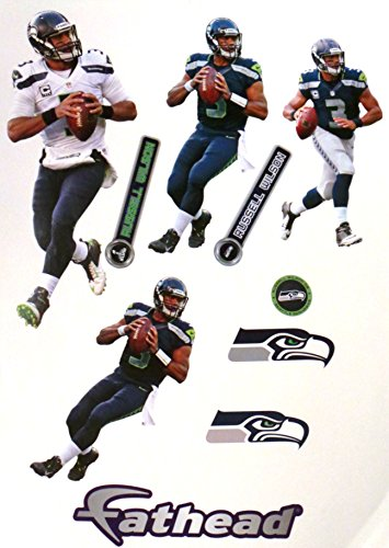 Russell-Wilson-FATHEAD-Seattle-Seahawks-Set-10-NFL-Vinyl-Wall-Graphics-7-INCH