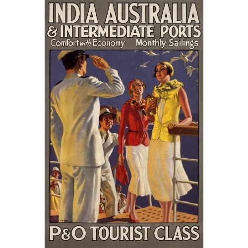 India Australia & Intermediate Ports/P & O (Art Print, Stretched Canvas or Unstretched Canvas)