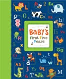 Cute Animals Baby Boy - Baby's First Five Years Keepsake Record Book with Storage Box