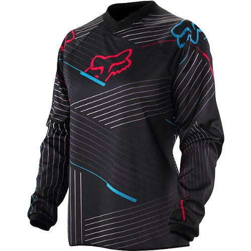 Fox Racing HC Geo Youth Girls Motocross/Off-Road/Dirt Bike Motorcycle Jersey - Color: Black/Pink, Size: Large