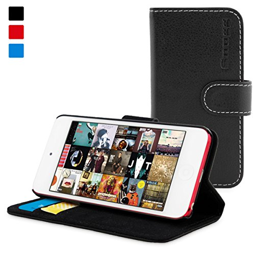 snugg-ipod-touch-6g-5g-flip-case-lifetime-guarantee-black-leather-for-apple-ipod-touch-5th-6th-gener