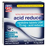 Rite Aid Acid Reducer,Ranitidine tablets USP, 75 mg. 160 ea