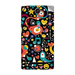 Garmor Designer Mobile Skin Sticker For OPPO U707T - Mobile Sticker