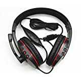 Aweek® Luxury Leather Gaming USB Headset Headphone With Microphone Earphone Player For Playstation3 PS3 / PC