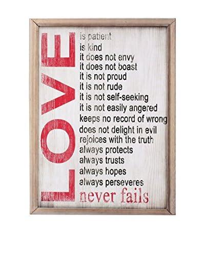 LO+DEMODA Wandbild Love Never Fails