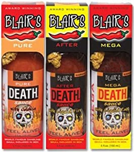 Hot Sauce Set Blairs Death Sauce Extreme Hot Sauce 3-5oz Glass Jars In Boxes by Blair's