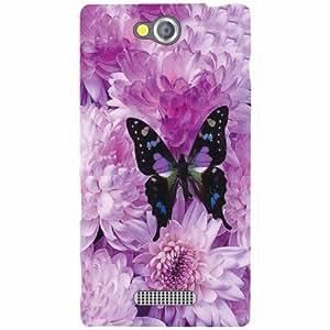 Sony Xperia C Back Cover - Purple Designer Cases