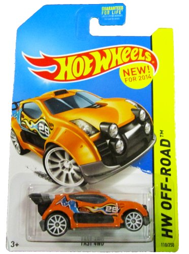 Hot Wheels - 2014 HW Off-Road 110/250 - Road Rally - Fast 4WD (orange)