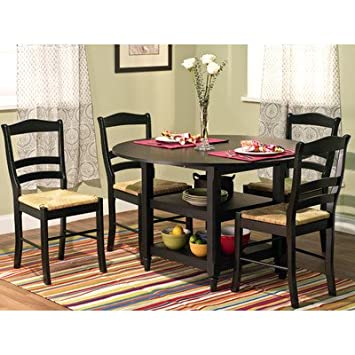 TMS 5-Piece Paloma Dining Set, Black