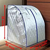 New Deluxe X-large Home Infrared FIR Portable Sauna Detox Loss Weight Silver