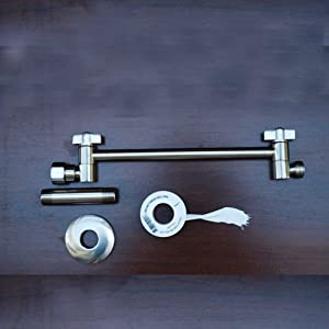 Zoe Shower Head Arm Extension Brushed Nickel