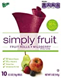 Fruit Roll-Ups Simply Fruit Rolls, Wildberry, 5-Ounce (Pack of 7)