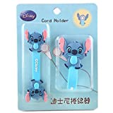 Disney Stitch Earbuds Cord Holder Cable Winder - 2 Pcs